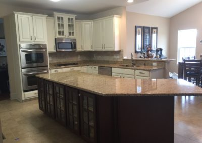 Kitchen Cabinet painting after image