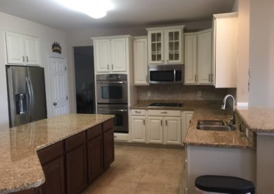 Kitchen cabinet repainting after picture